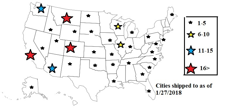 USA Map of our Customers